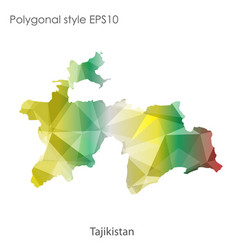 Isolated icon tajikistan map polygonal vector