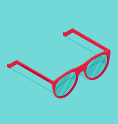 isolated isometric pink sunglasses vector image