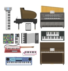 Keyboard musical instruments vector