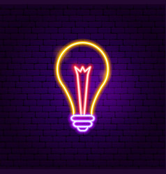 lamp neon label vector image