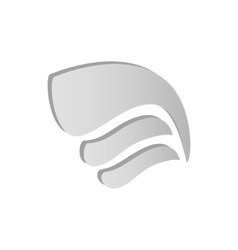 Light gray simple wing icon isometric 3d style vector image
