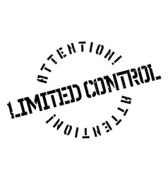 Limited control rubber stamp vector