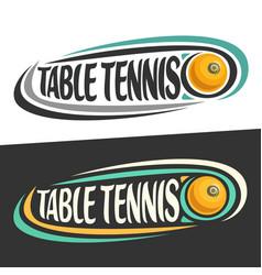 logos for table tennis vector image