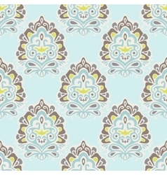 Luxury royal damask seamless tiled pattern vector