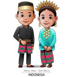 Makassar traditional clothing vector
