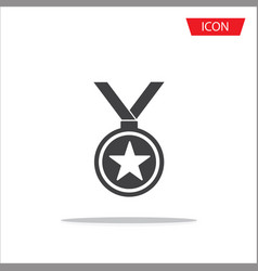 medal icon isolated on white background vector image