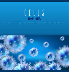 microbiology and medical web banner vector image