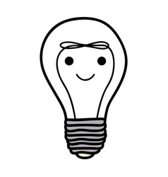 Monochrome background of light bulb with filament vector