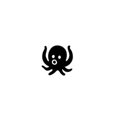 octopus isolated icon octopus vector image