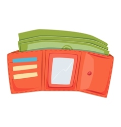 Open purse wallet vector