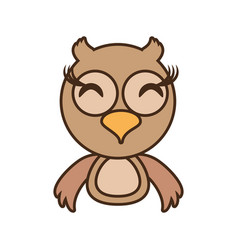 owl baby animal funny image vector image