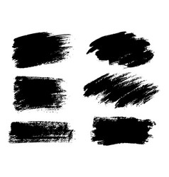 painted grunge stripes set black labels vector image