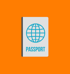 passport flat icon sign and symbol vector image