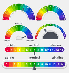 Ph value scale meter for acid and alkaline vector