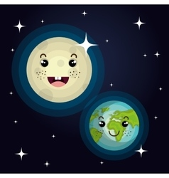 planet character space background vector image