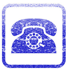 Pulse phone framed textured icon vector