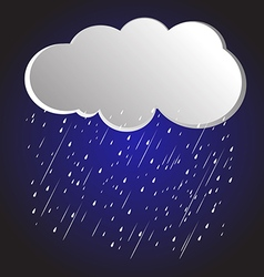 Rain clouds 4 vector