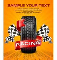 Rubber tire racing symbols vector