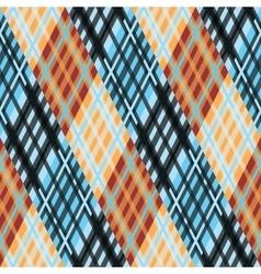 Seamless tartan pattern Diagonal orange blue vector