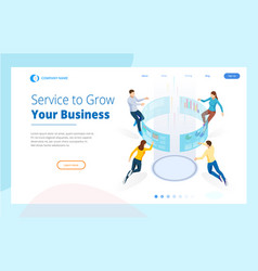 service to grow your business isometric business vector image