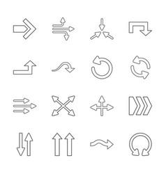 Sixteen flat modern arrows vector