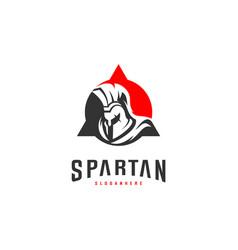 Spartan logo design spartan helmet logo template vector