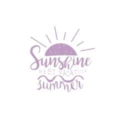 Summer holydays violet vintage emblem vector