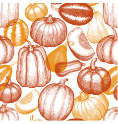 Thanksgiving day and halloween seamless pattern vector