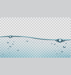 Transparent blue water clear background template vector
