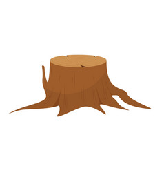 tree stump roots vector image