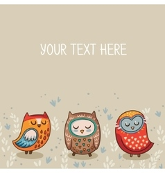 Tribal owl card vector