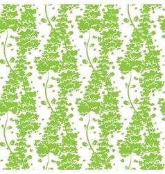 Vibrant Green Plants Seamless Pattern vector image