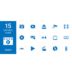 video icons vector image