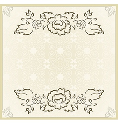vintage design for wedding card - vector image vector image