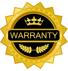 warranty gold badge vector image