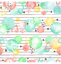 Watercolor circles pattern vector