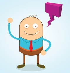 Weird guy with speech bubble vector