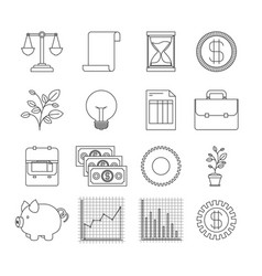 White background with silhouette set elements vector
