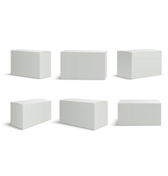 white boxes templates blank medical box 3d vector image