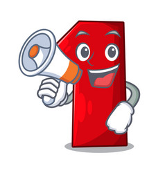with megaphone character number one on the vector image