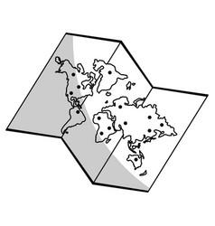 World map ico vector