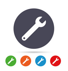 wrench key sign icon service tool symbol vector image