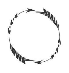 arrow label decoration round vector image