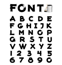 font brush vector image vector image