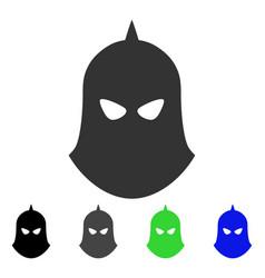 knight helmet flat icon vector image vector image