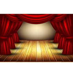 Old stage design vector image