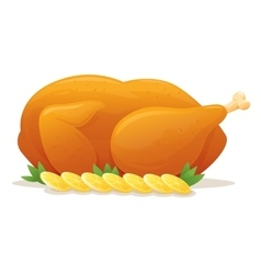 Roast Chicken vector image vector image