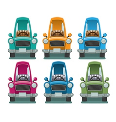 Six Color Cars vector image vector image