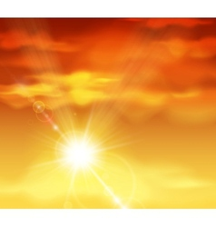 Beautiful sunset vector image vector image