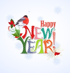 colorful text Happy new year template for your vector image